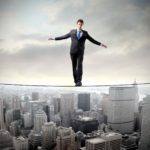 Entrepreneur managing risks
